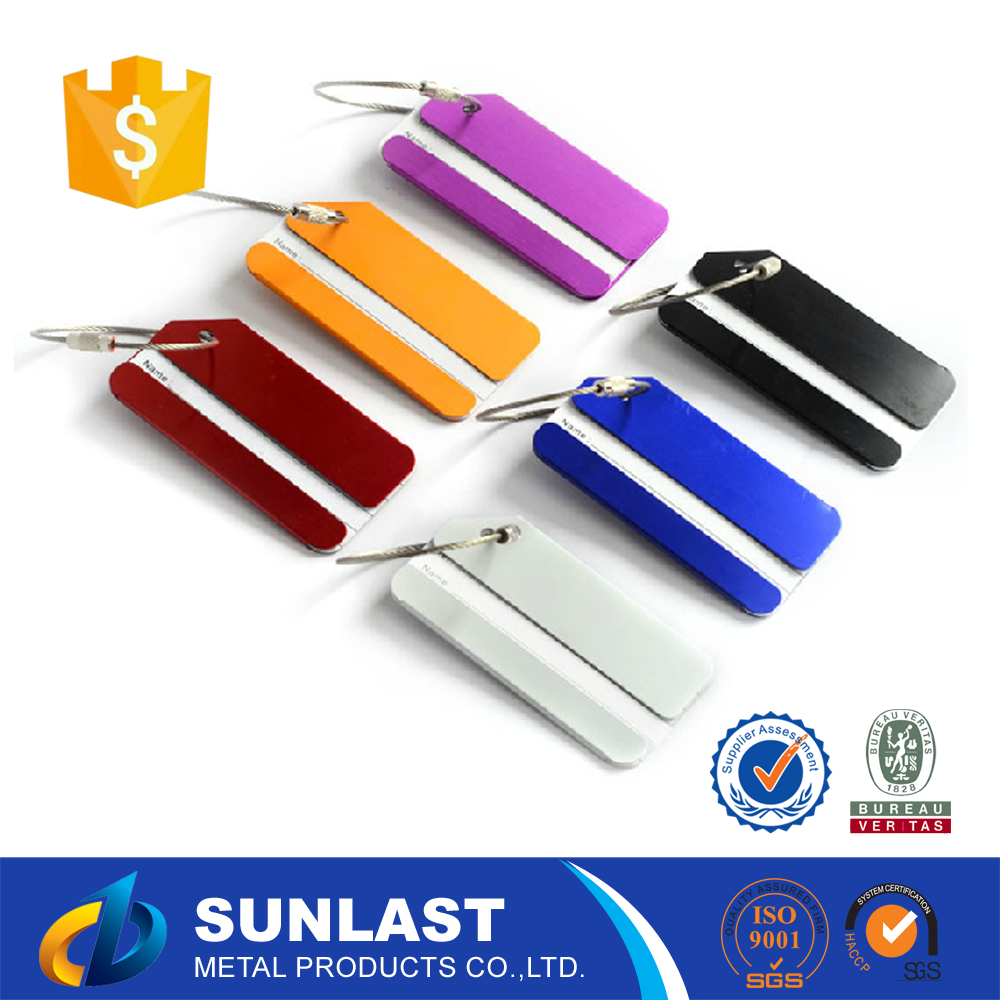 Chinese Sexy Custom Wholesale Cheap Metal Aluminum Luggage Tag With Business Card Insert OEM1491