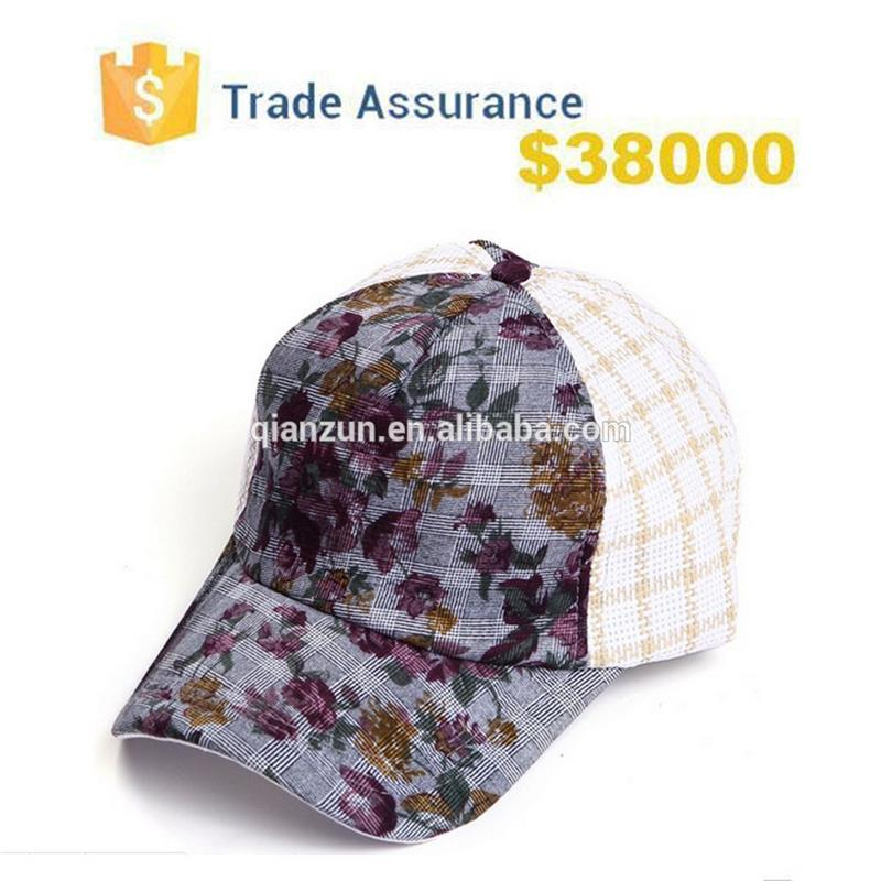 5 Panel Floral Printed Fabric Leisure Sport Hat Custom