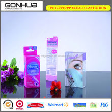China High quality factory direct -selling custom design elegant hinged lid cosmetic plastic mascara box