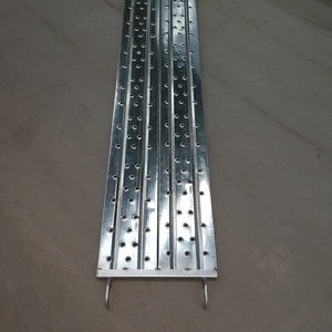 Punched Scaffolding Shoring Metal Steel Plank With Hook by Vera