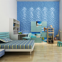 China supplier wave design 3d texture wall decor panels 3d board
