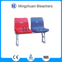 Libra grandstand hdpe plastic stadium chair with backrest for indoor and outdoor