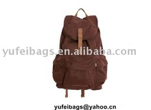 2011 New style canvas school bag for students