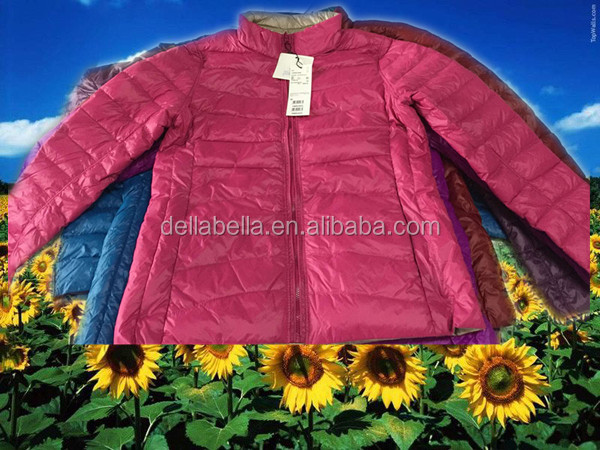 Women's clothing double-sided wear thin down jacket