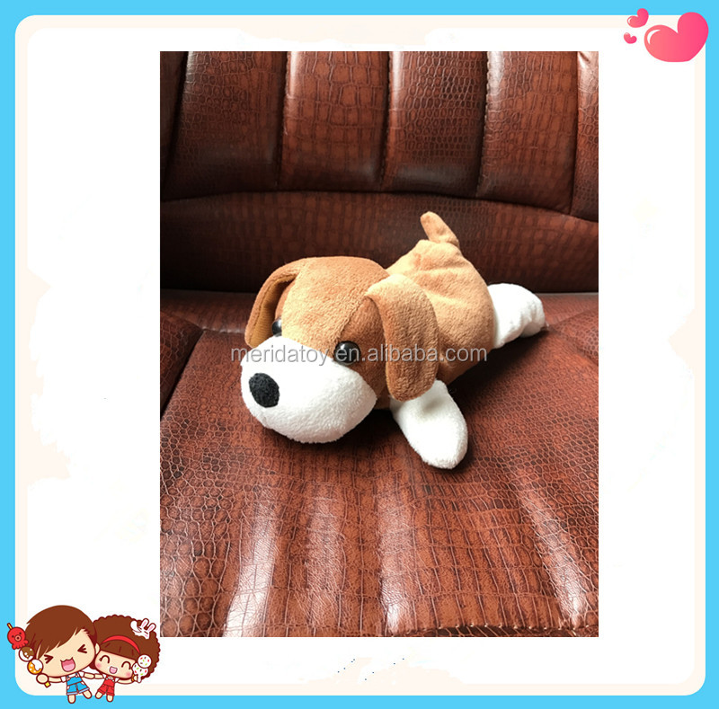 Free Sample 2017 Custom New Cute Stuffed Dog Shaped Plush Puppy Toys Kids Gift