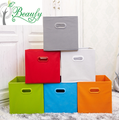 Non-woven fabric solid color storage boxes