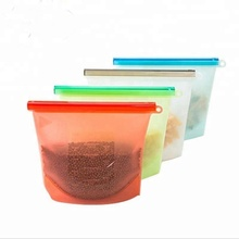 Hot selling FDA silicone storage reusable packaging zipper bag food