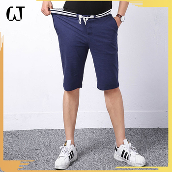9028#2017 New Arrivals Casual Compression Men's Elastic Cotton Blank Sport Towel Shorts Plus Size For Stock