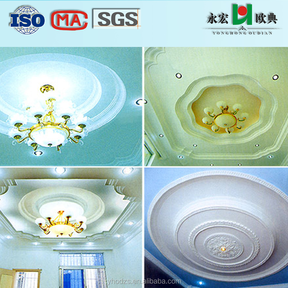 YongHong Brand decorative Gypsum/Plaster GRG board Ceiling tiles