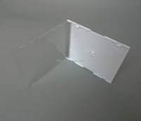 5.2mm PS Super Slim Single White Jewel CD Case