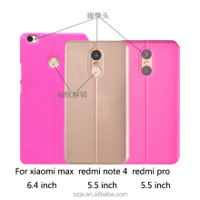 Smart Window holster for xiaomi redmi note 4 for xiaomi max leather case for redmi pro with function of sleep and wake up