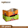 Heavy Duty Glossy Custom Color Corrugated Paper Cardboard Box For Fruit And Vegetable