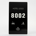 Ultra Thin Tempered Glass and Silver Frame Electronic Touch Doorplate with Room Number DND MUR