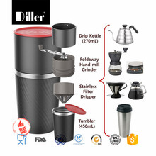 Coffee Grinder Hand Cup Travel Portable Mini Espresso Maker