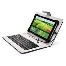 2015 Newest Design of High Quality PU Leather Case USB Tablet Keyboard Case