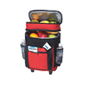 48 cans insulated rolling trolley coolers, waterproof large trolley picnic cooler bag with wheels