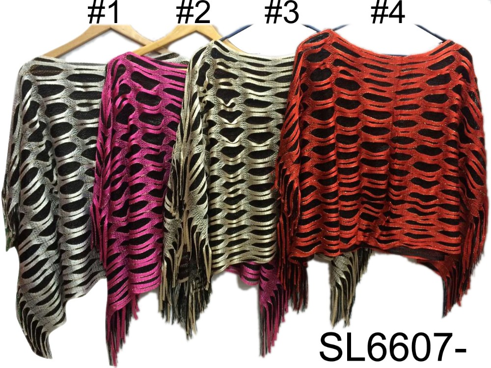 2016 Fashion hot style tassel polyester scarf