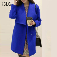 2015 New woman Fashion winter woolen overcoat women Asia fashion Jackets woolen coat