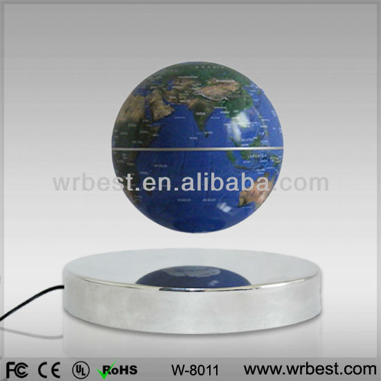Stylish Promotional Wedding Decoration/ Gifts/Interesting Maglev Turning Plastic World Globe W8011