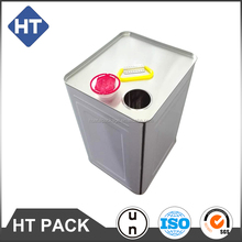18L square tin, cooking oil can, edible oil can with plastic spout cap