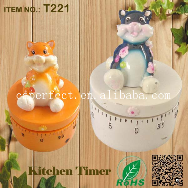 good quality mechanical kitchen Cate shape music box timer