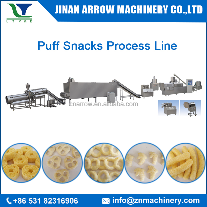 Automatic Puffed Corn Flour Snack Extruder Machine