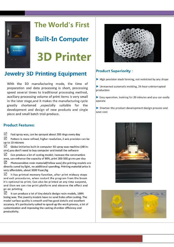 JEWELRY DLP high precision 3d wax printer for jewelry dlp 3d printer 3d printer machine
