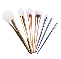 Aliexpress Hot Selling 7pcs Long Handle Makeup Cosmetic Brushes Set Powder Foundation Eyeshadow Lip Brush Tool