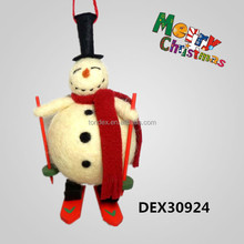 Christmas Decorative Plush Lovely Snowman For Decoration