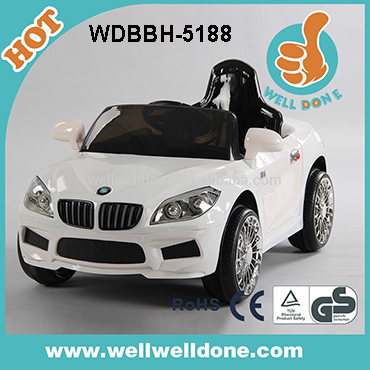 Best selling model automatic baby car battery operated led light with remote control LED light sound can connect MP3 WDHL-1028