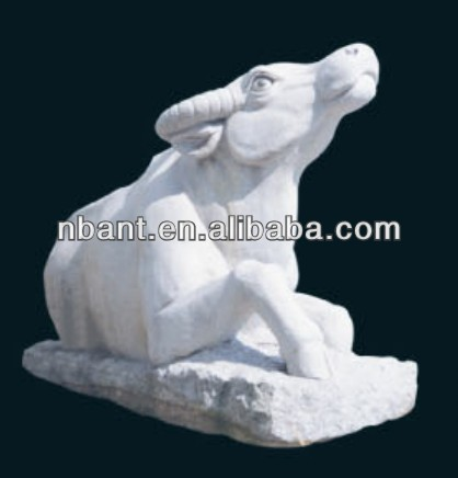 natural stone decorative bull sculpture animal statues