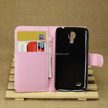 Wholesale Folio Stand Case for Samsung GALAXY S4 mini i9190 PU Leather Flip Cover with Wallet
