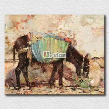 Office decorative abstract horse painting for businessman