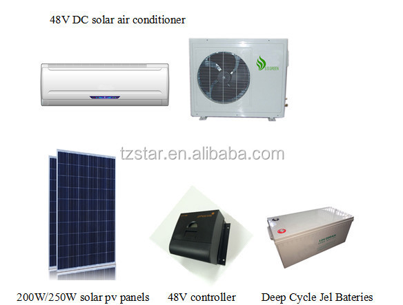 24000btu 48v dc inverter solar air conditioner solar dc. Black Bedroom Furniture Sets. Home Design Ideas