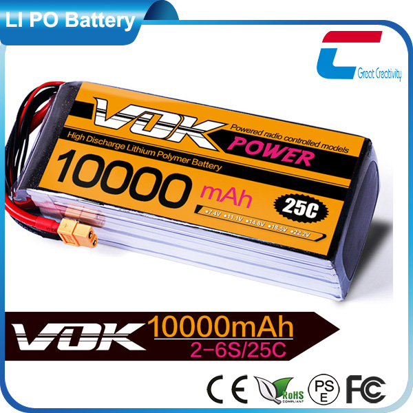 3.7v 10000mah Large rc helicopter rechargeable lipo battery for buggy 1/18 racing car tank