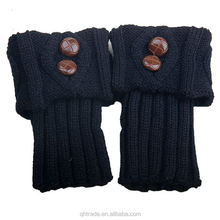 Adult Leg Warmers- Cable Knit Soft and Warm Pair of Button Boot Cuffs Wholesale