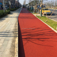 Colorless Asphalt Binder for Producing Colored Asphalt / Easy to Produce and Construct