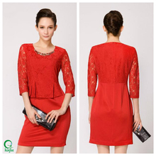 D350 High Quality Splicing Design Fancy Ladies Office Wear Dresses