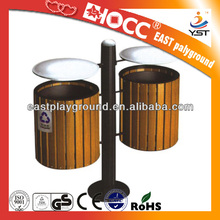 Park outdoor stainless steel dustbin/garbage can/waste bin price
