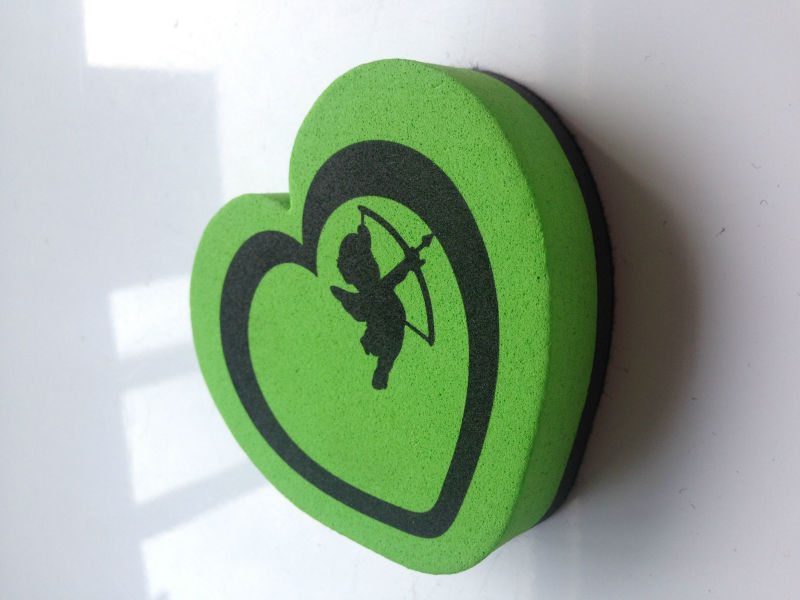heart design eva blackboard eraser