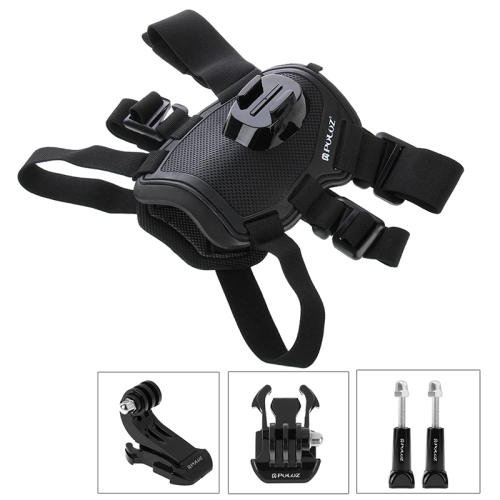 PULUZ Brand Dog Fetch Harness Adjustable Strap Mount for Go Pro HE RO4 Session /4 /3+ /3 /2 /1