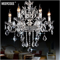 Classic Metal Crystal chandelier Light Golden Color Silver Crystal Chandelier Lamp