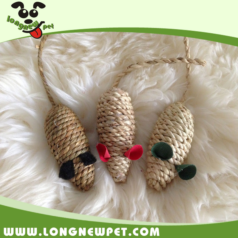 Popular Cat Sisal Mouse Toy Cat Chew Toys Hot Sale Rope Pet Product