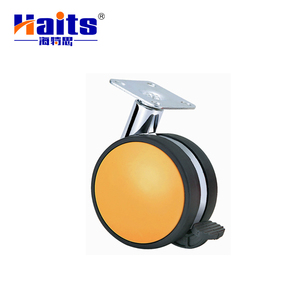 Industrial medium duty shock absorbing swivel caster wheel