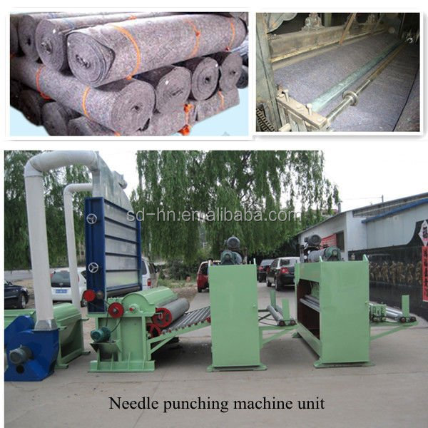 Whole non woven felt product line with high speed