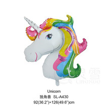 2017 the Newest Design 92*126cm American design unicorn foil helium balloon for decoration party