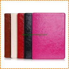 Crazy horse pattern flip stand genuine leather case for iPad air 2