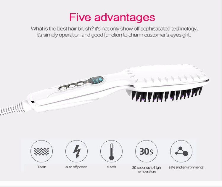 Factory bottom price good quality popular brush private label hair straightener comb