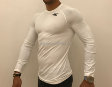 compression men's T quick dry seamless spandex nylon t-shirt
