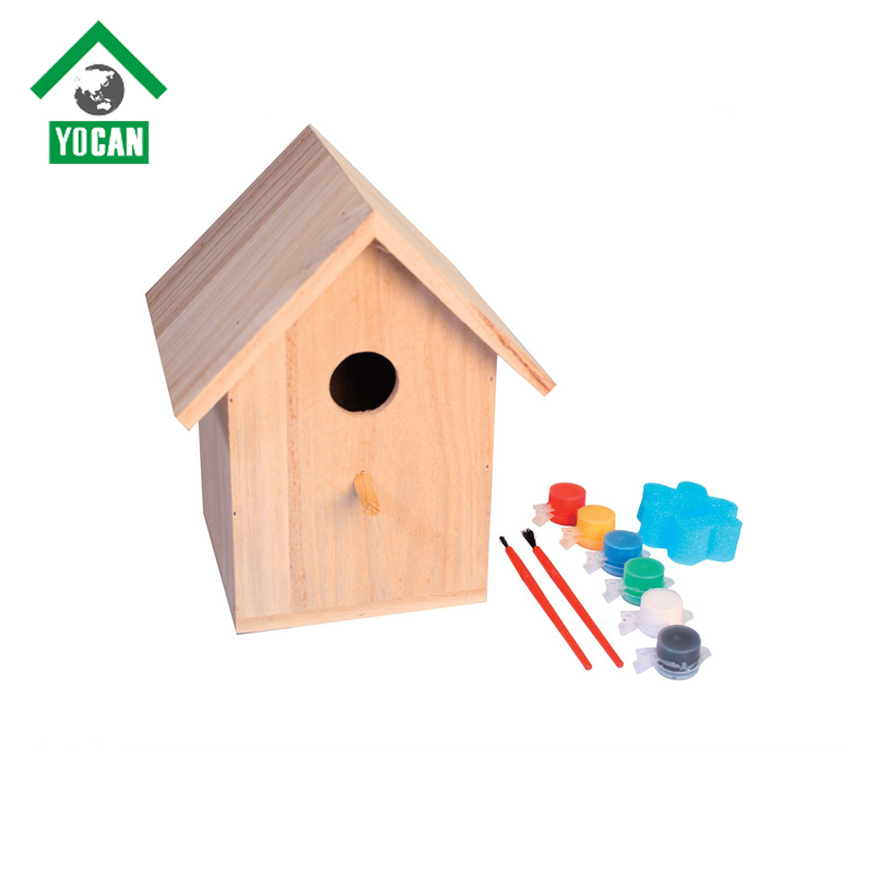 pet accessories wholesale china diy wooden bird house nest